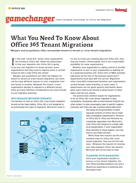 What You Need To Know About Office 365 Tenant Migrations