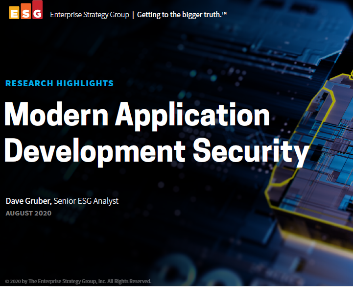 Modern Application Development Security