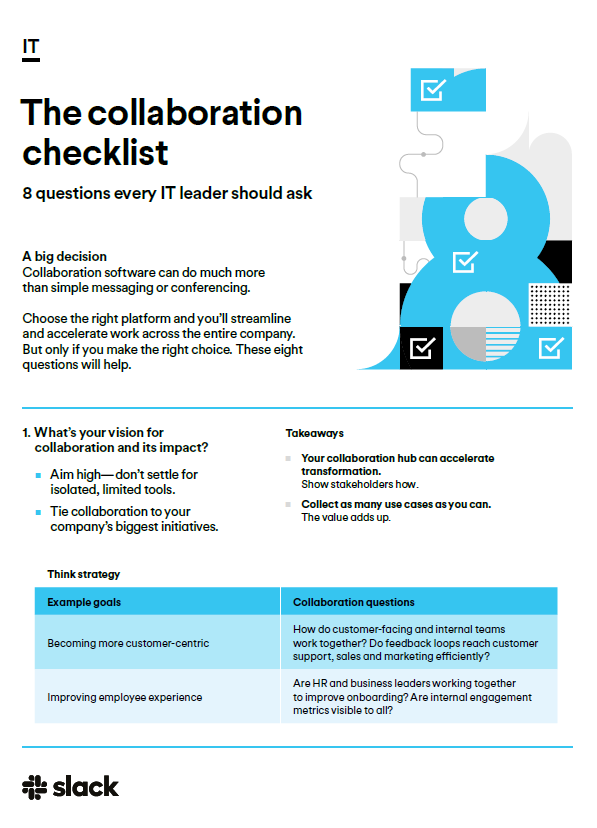 The collaboration checklist