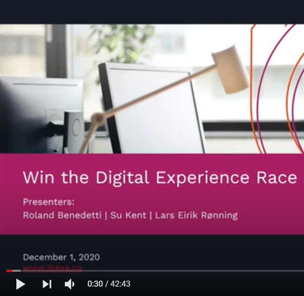 Win the Digital Experience Race: On Demand Webinar