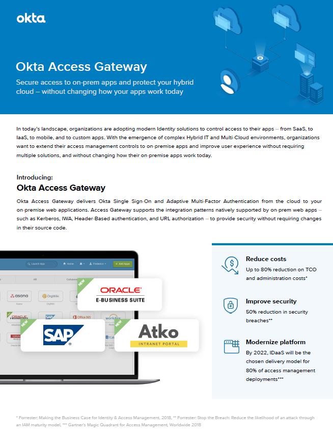 Okta Access Gateway