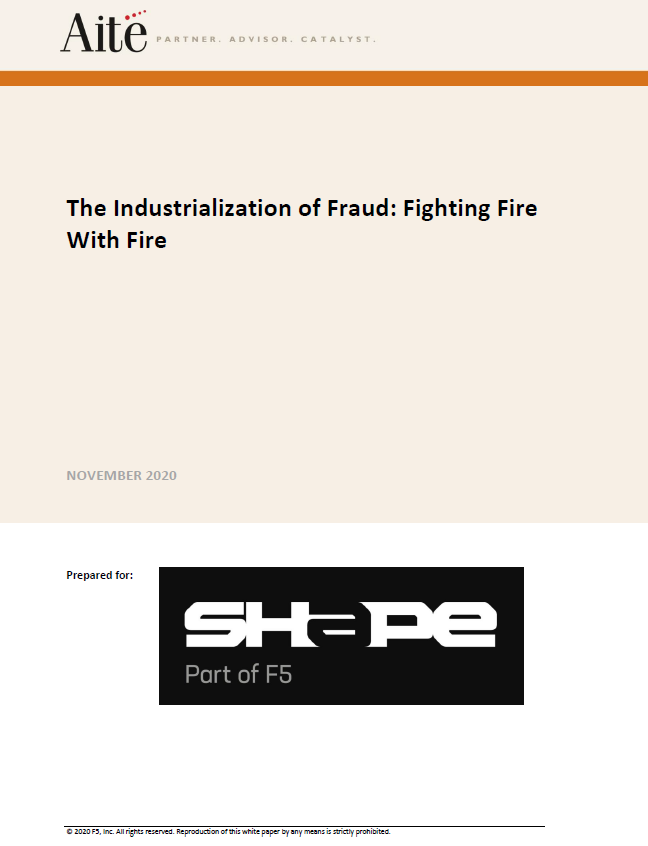 The Industrialization of Fraud: Fighting Fire With Fire