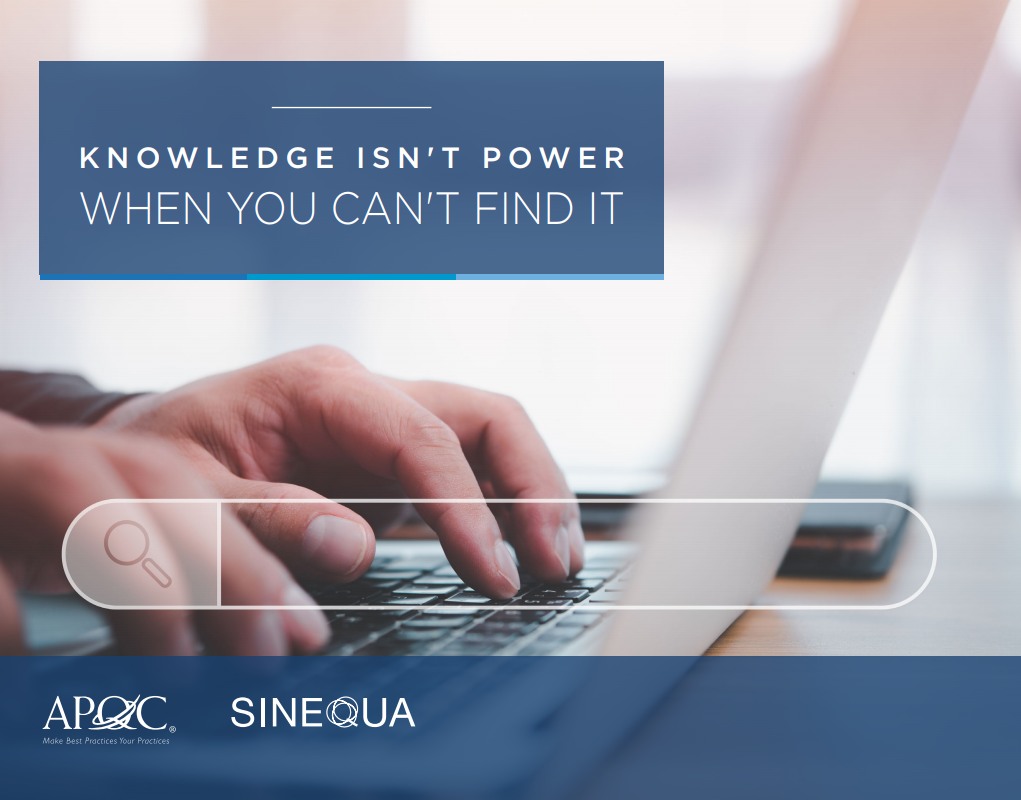 Knowledge isn´t power when you can´t find it