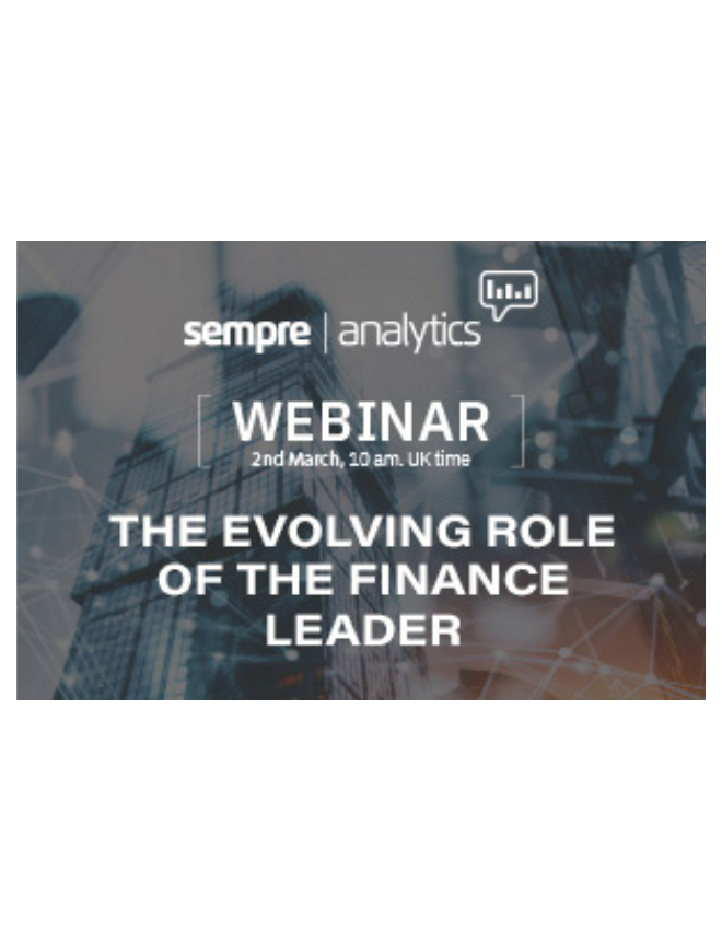 The evolving role of the Finance Leader – webinar