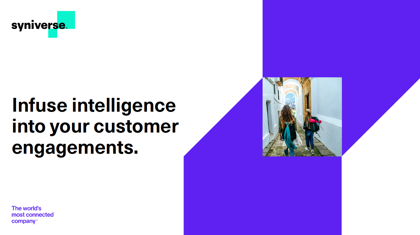 Infuse intelligence into your customer engagements