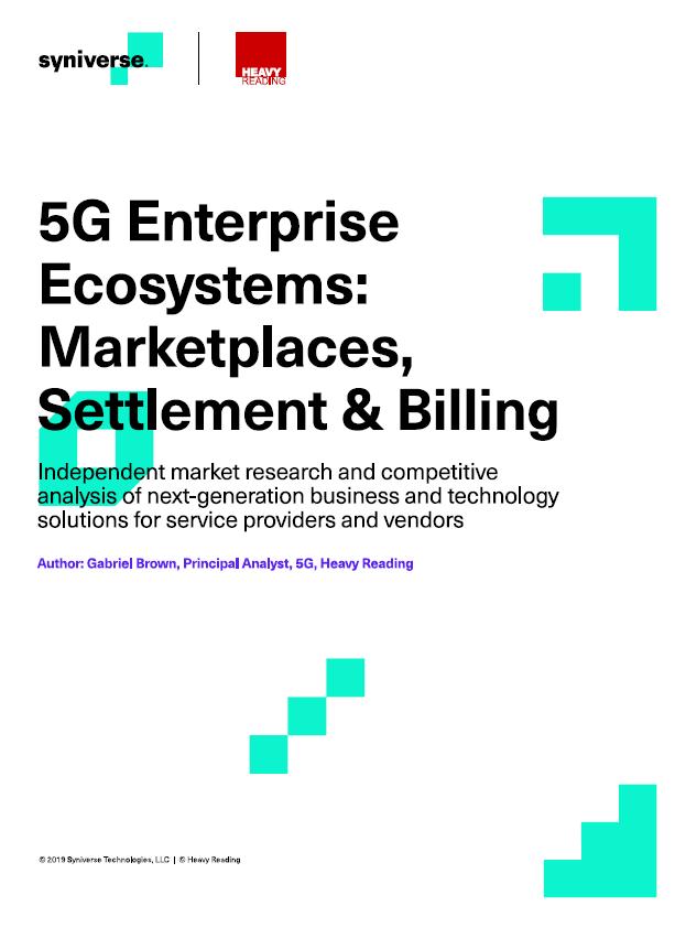 5G Enterprise Ecosystems: Marketplaces, Settlement & Billing