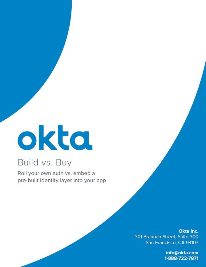 Build vs. Buy