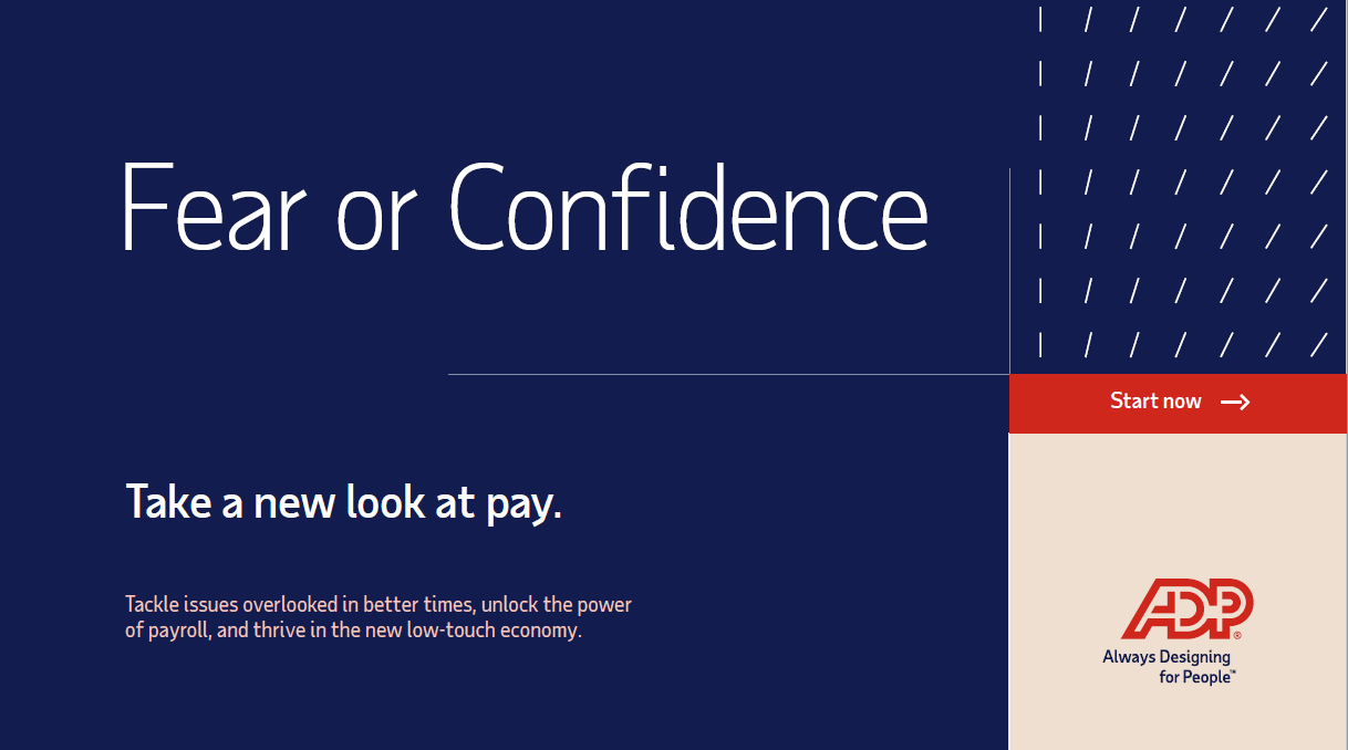Fear or Confidence. Take a new look at pay.