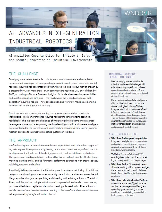 AI ADVANCES NEXT-GENERATION INDUSTRIAL ROBOTICS