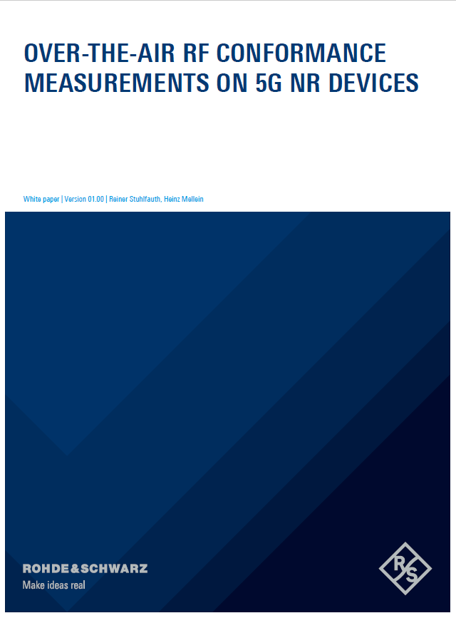 Over-the-Air RF conformance measurements on 5G NR devices