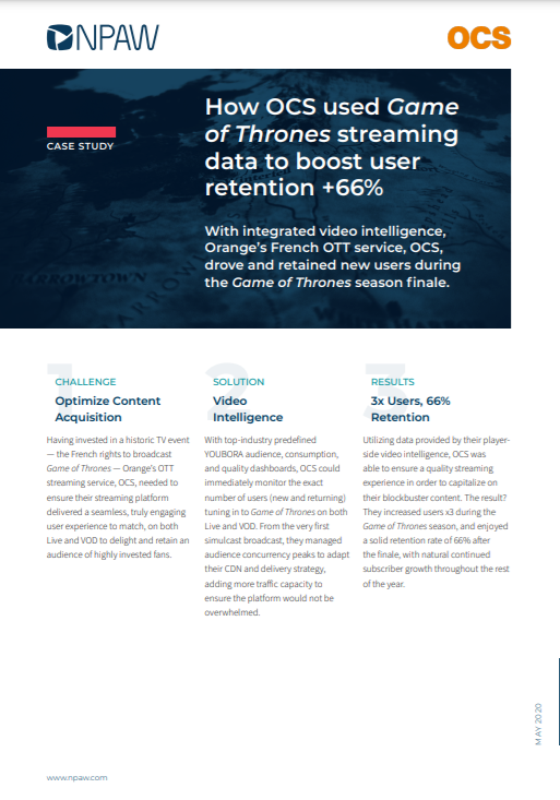 How OCS Used Game of Thrones Streaming Data to Boost User Retention +66%